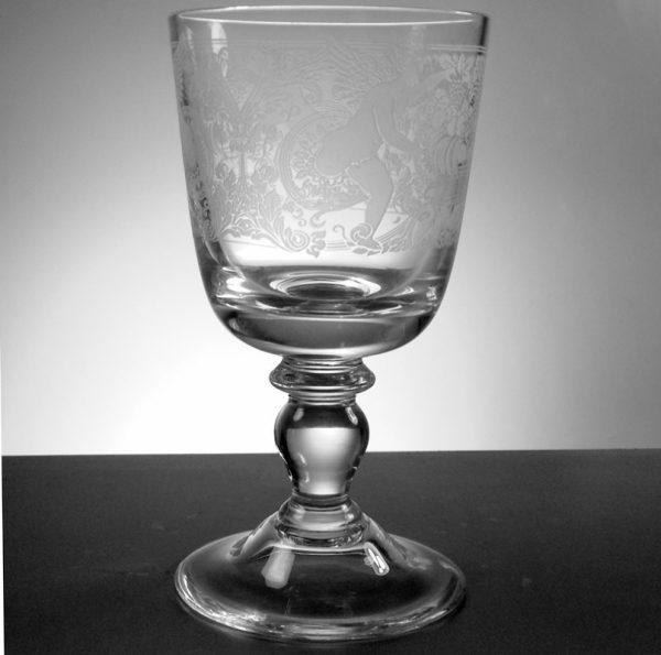 Engraved Goblet 17cm high