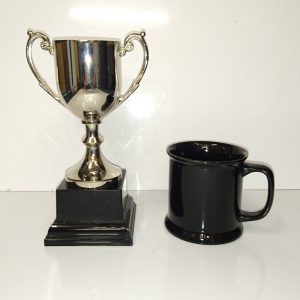 Presentation Cup Cast Nickel Plated, 21.5cm high