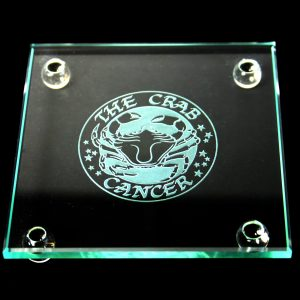 Square Coaster Cancer, 9cm