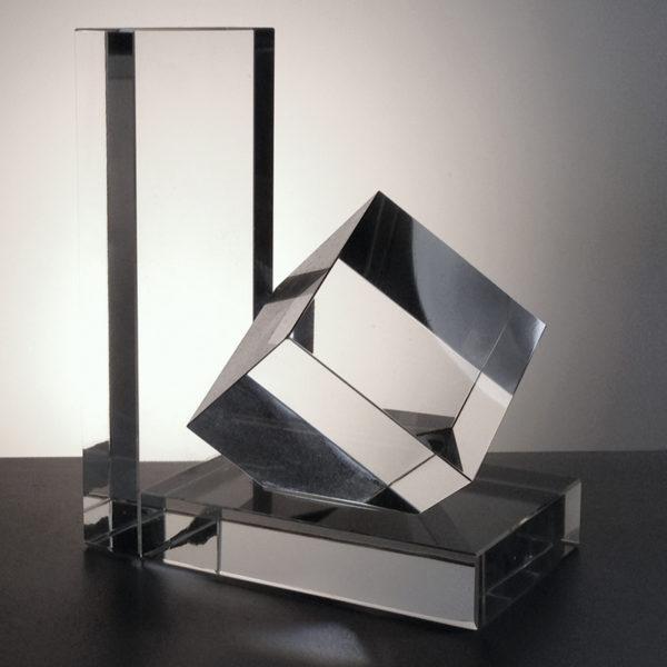 Optical Crystal Book End 14.5cm high