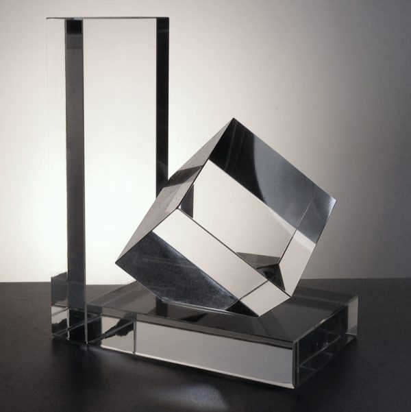 Optical Crystal Book End 14.5cm high