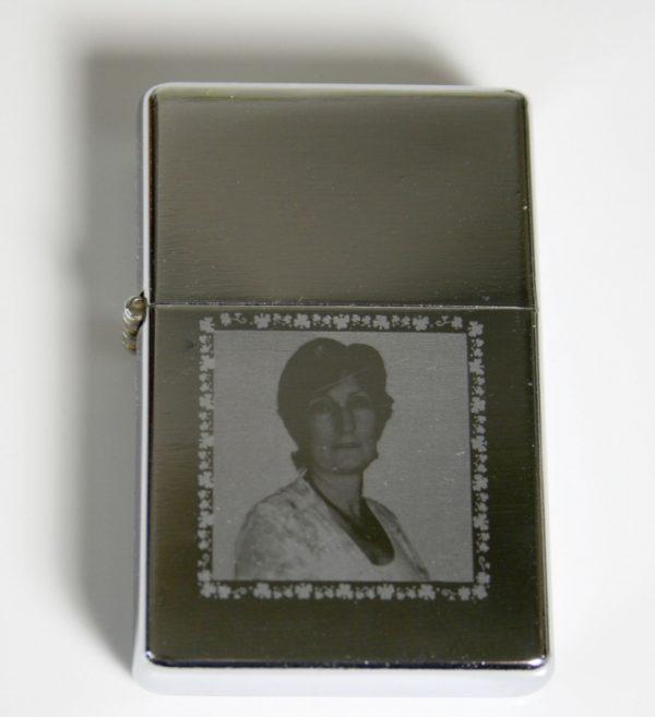 Polished Silver Star Lighter (Free Engraving)