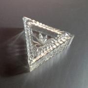 Triangular Glass Trinket Box