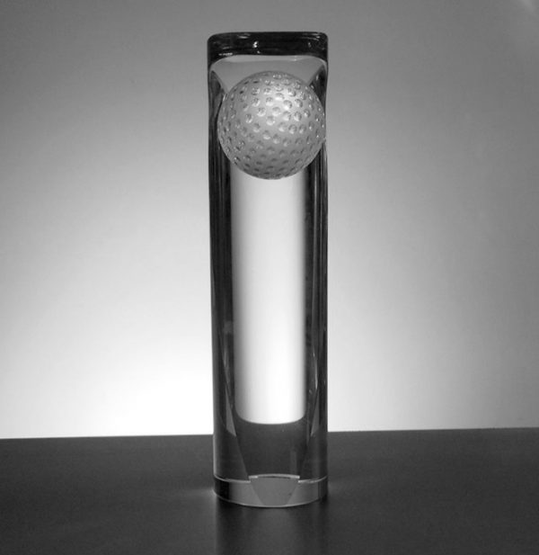 Golf Pillar with curved top 19.5cm tall