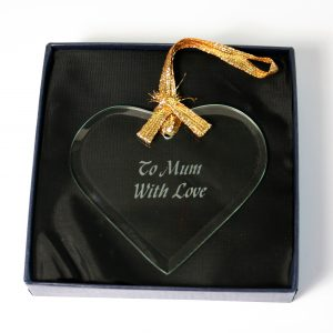 Glass heart for Mothers day