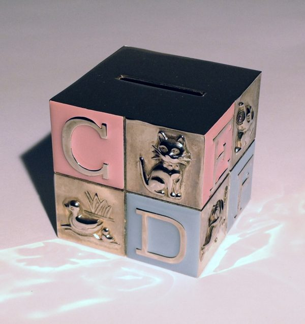 Silver Plated ABC Money Box
