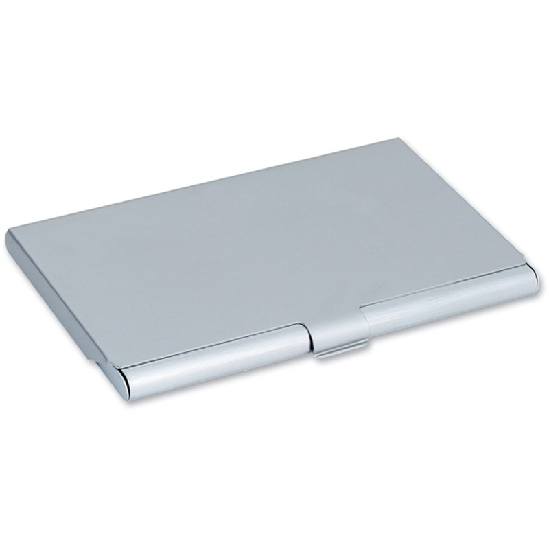 Brushed aluminium business card holder engrave it brushed aluminium business card holder reheart Gallery