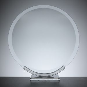 "Glass Plaque Awards, 20.0cm or 8"" round"