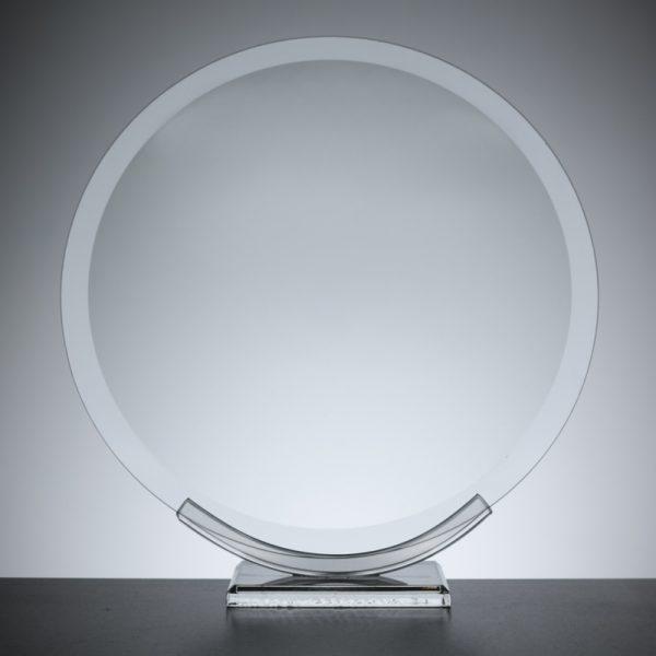 """Glass Plaque Awards, 20.0cm or 8"""" round"""