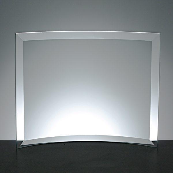 Glass Plaque Awards, curved 13.5 x 19cm