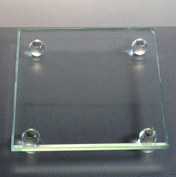 Square glass coaster