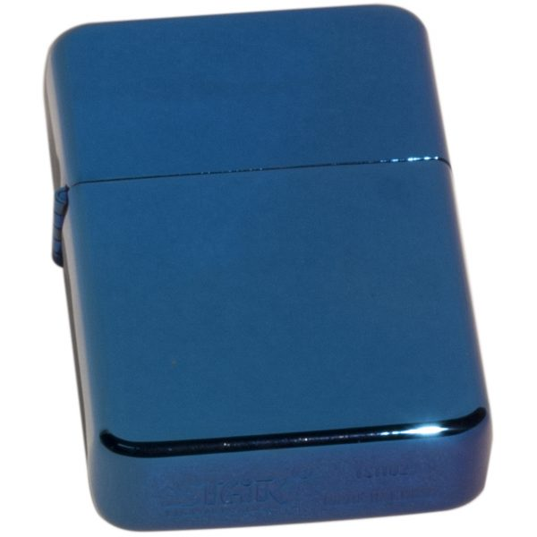 Star Petrol Lighter with blue finish & free text engraving