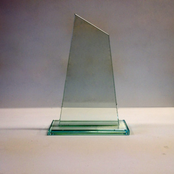 Slanted Jade glass Trophy