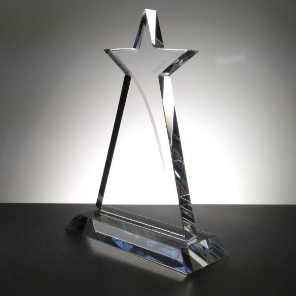 Star Crystal Trophy 20cm high.