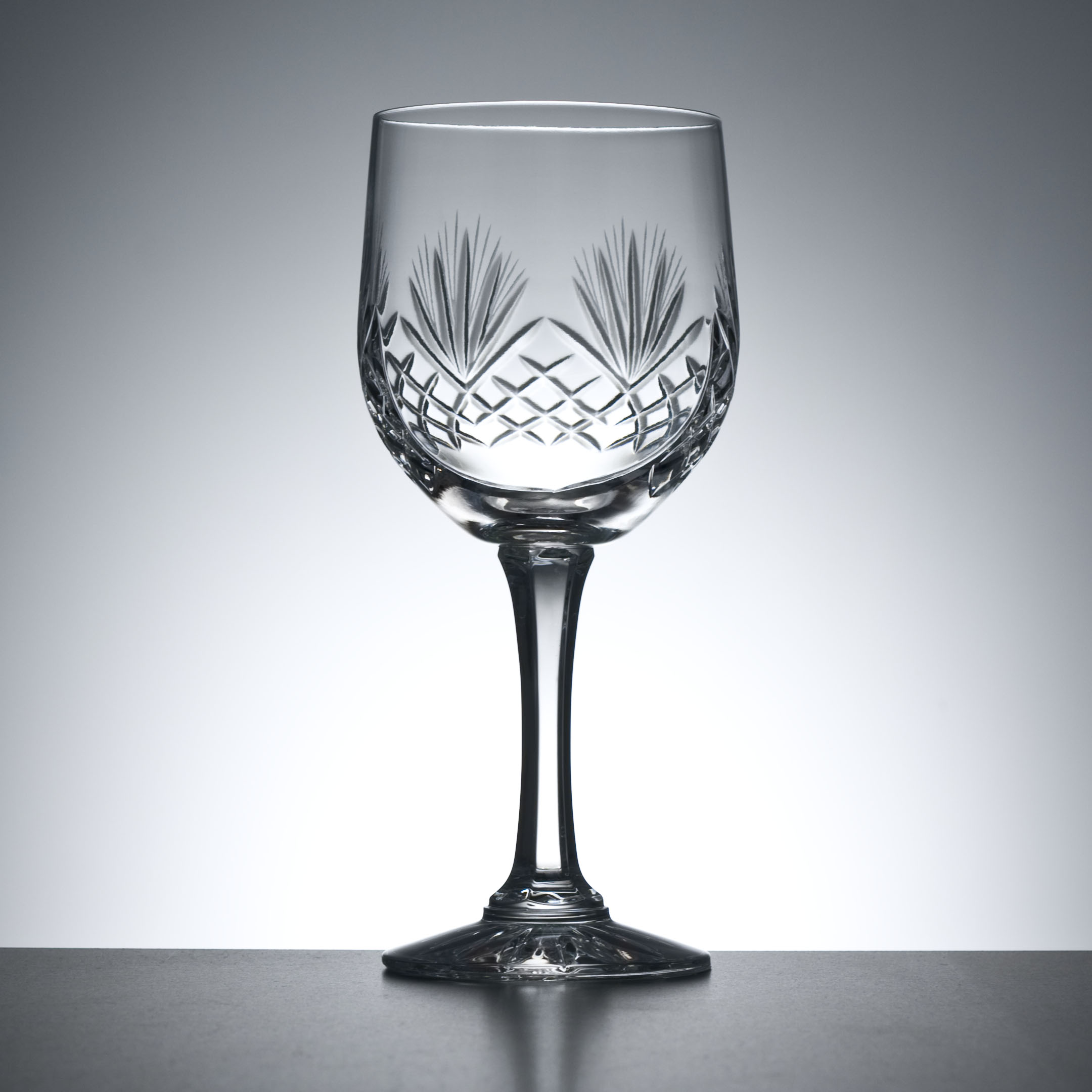 Cut Lead Crystal Wine Goblets