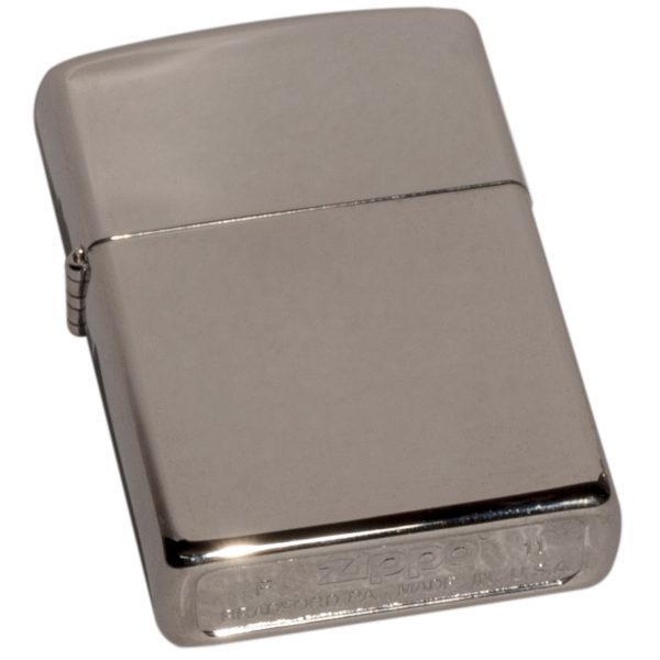 Polished Silver Zippo Lighter.